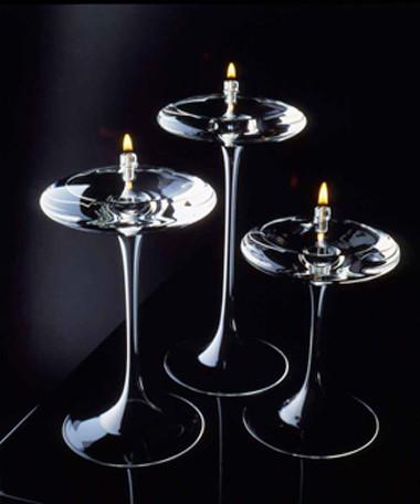 "Omni Stems Trio 7"" 9"" 11"" (1 litre)  Handcrafted Glass Candles"