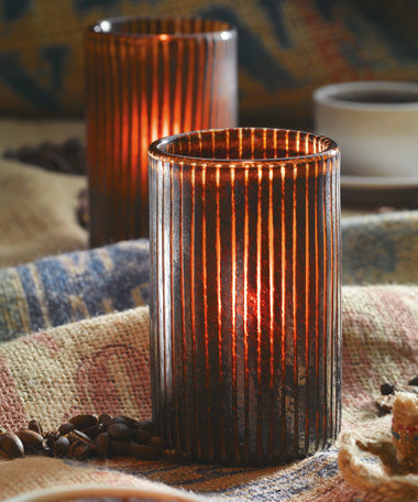 Mocha Cylinder Glass Lamp