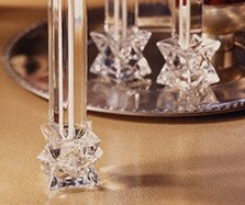 Star Crystal Cube Candlestick Holders (Pair)