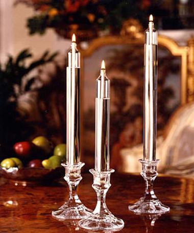 Classic Taper Handcrafted Glass Candles (Candle holder/stand sold separately)