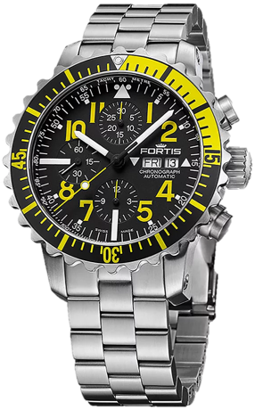 Fortis Marinemaster Yellow Chronograph