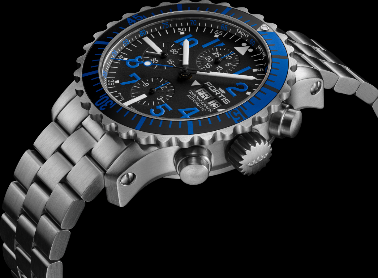 Fortis Marinemaster Blue Chronograph