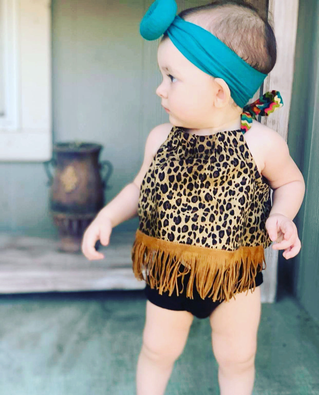 Toddler Leopard Halter Top