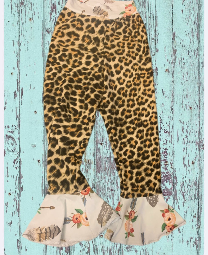 Leopard Bell Bottoms  Toddler