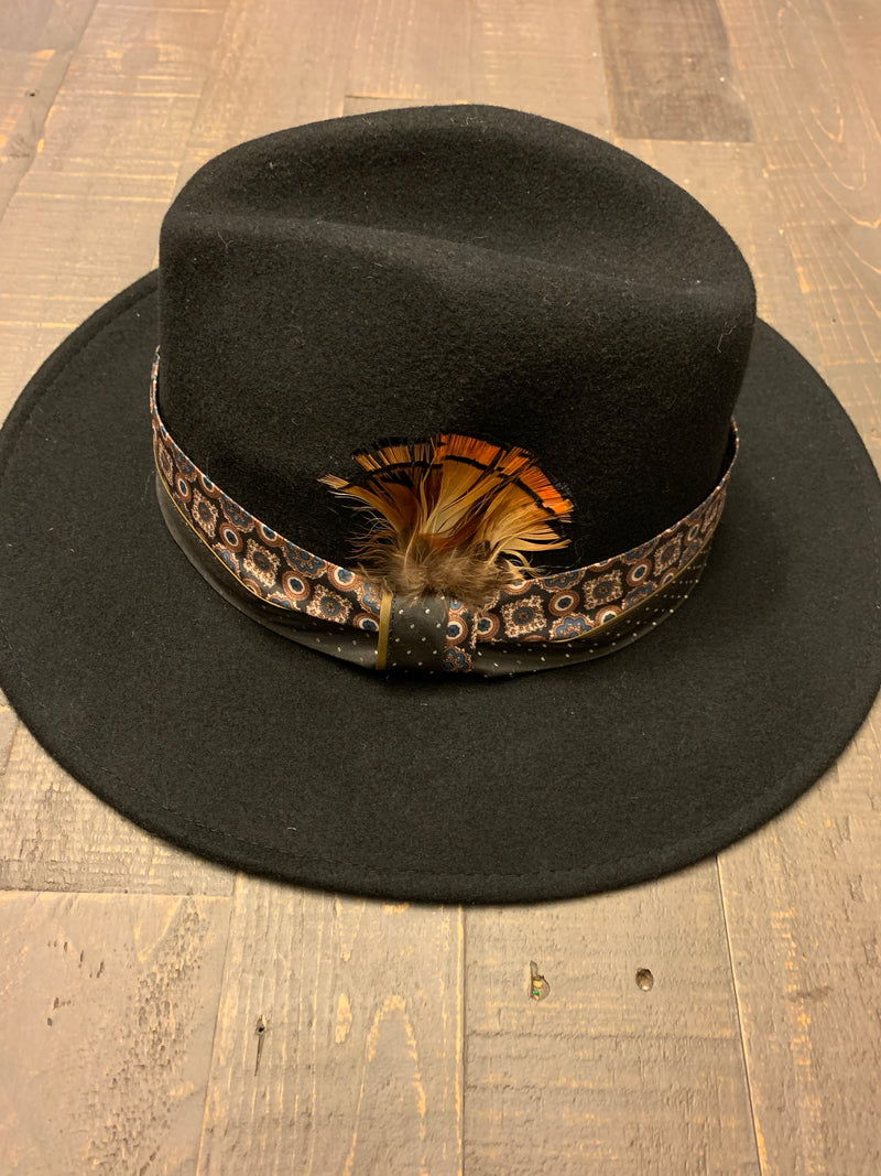 Gypsy Cowgirl fedora hat with fun feather