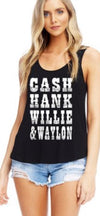 Country Music Southern Legends Tank top  Tribute tank Top