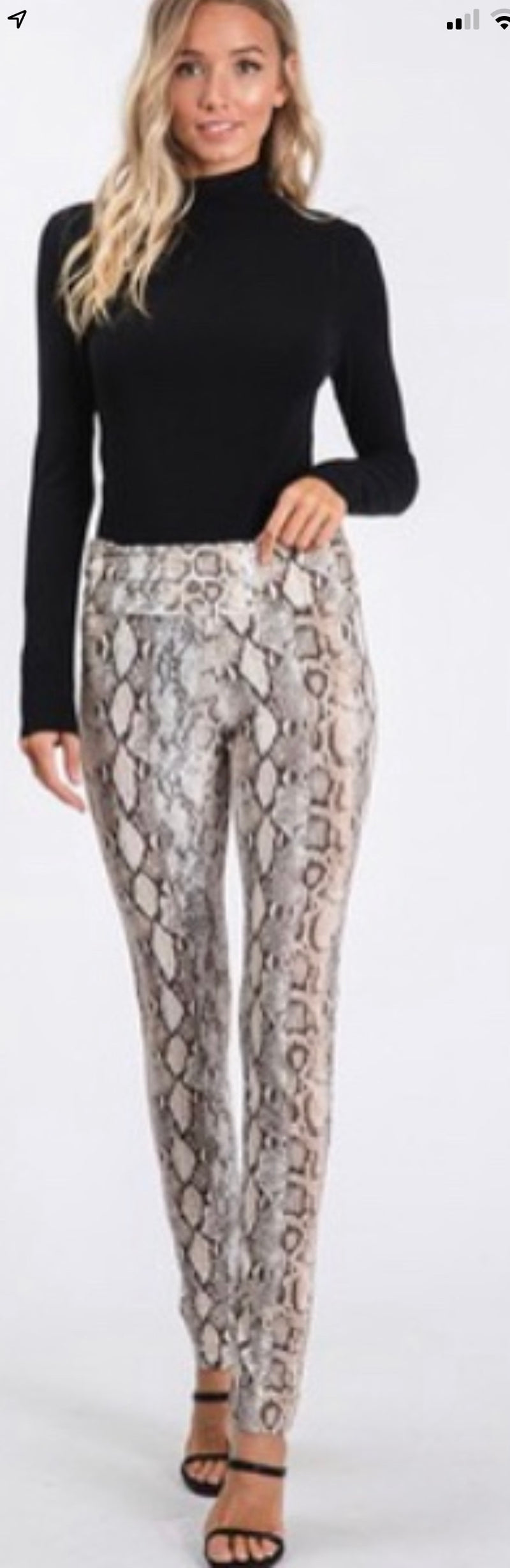 High waist Snake print full length leggings