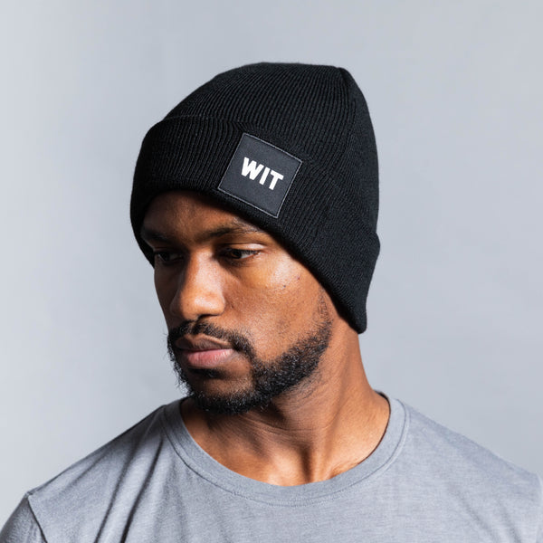 WIT Patched Logo Beanie