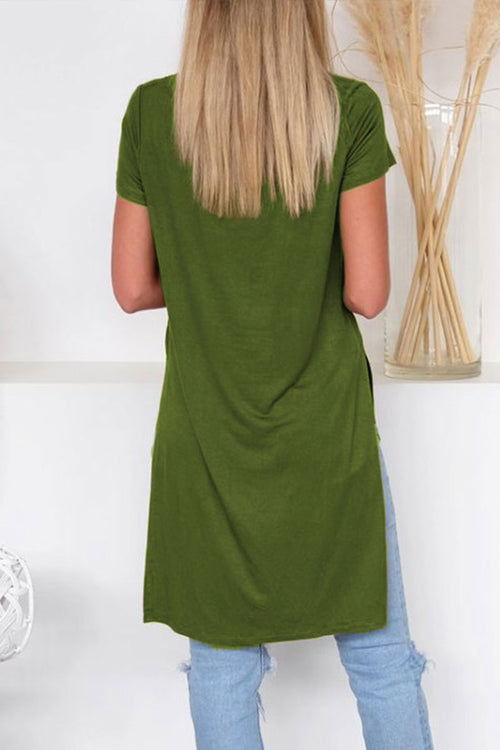 Lopezdress Casual Straight Split Knee Length Dress