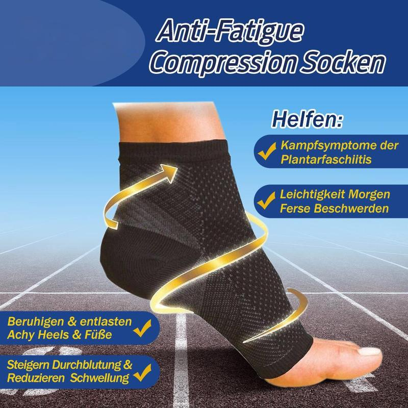 Mode Komfortable Anti-Fatigue Compression Socken, 2 Paar in Schwarz