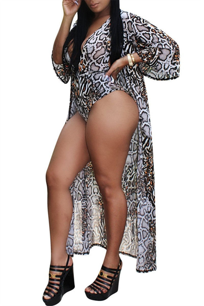 Leopard Print Swimwear & Cover Up