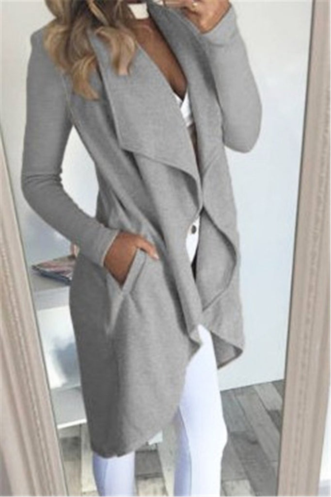 Wide Lapel Asymmetric Coat