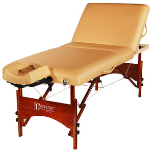 "Master Massage - Deauville Portable Table Package with Lift Back 30"" - Superb Massage Tables"