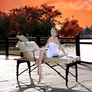 Master Massage - Samson Portable Salon Massage Table Package with Lift Back - Superb Massage Tables
