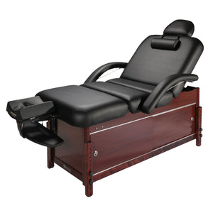 Master Massage - Cabrillo Pneumatic Tilt Salon Spa Massage Table with Cabinet - Superb Massage Tables