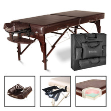 "Master Massage - Carlyle Portable Massage Table Package with Memory Foam 31"" - Superb Massage Tables"
