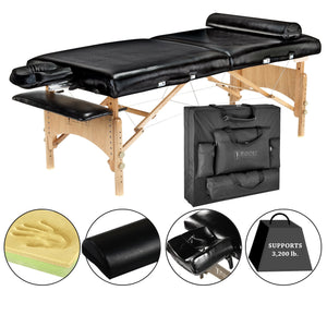 "Master Massage - Husky Gibraltar XXL Portable Massage Table 32""x84"" - Superb Massage Tables"