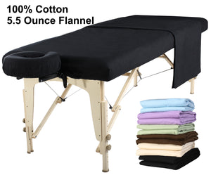 MT Massage - Cotton Flannel Sheet Set 3 piece - Superb Massage Tables