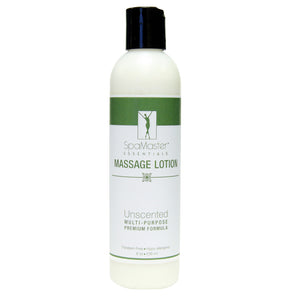 Master Massage - Organic & Unscented Water-Soluble Massage Lotion 8 oz Bottle - Superb Massage Tables