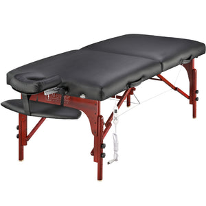 "Master Massage - Montclair Portable Massage Table Black 31"" - Superb Massage Tables"