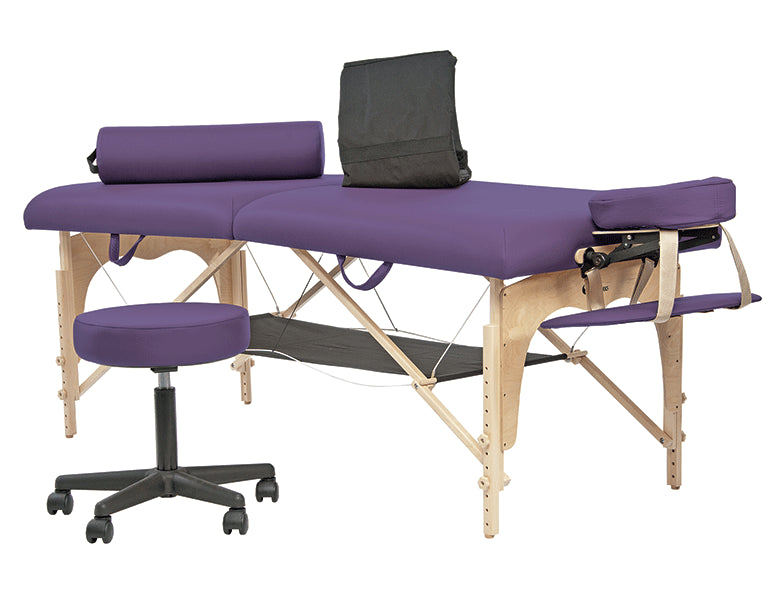 Custom Craftworks - Omni Portable Massage Table Professional Package - Superb Massage Tables