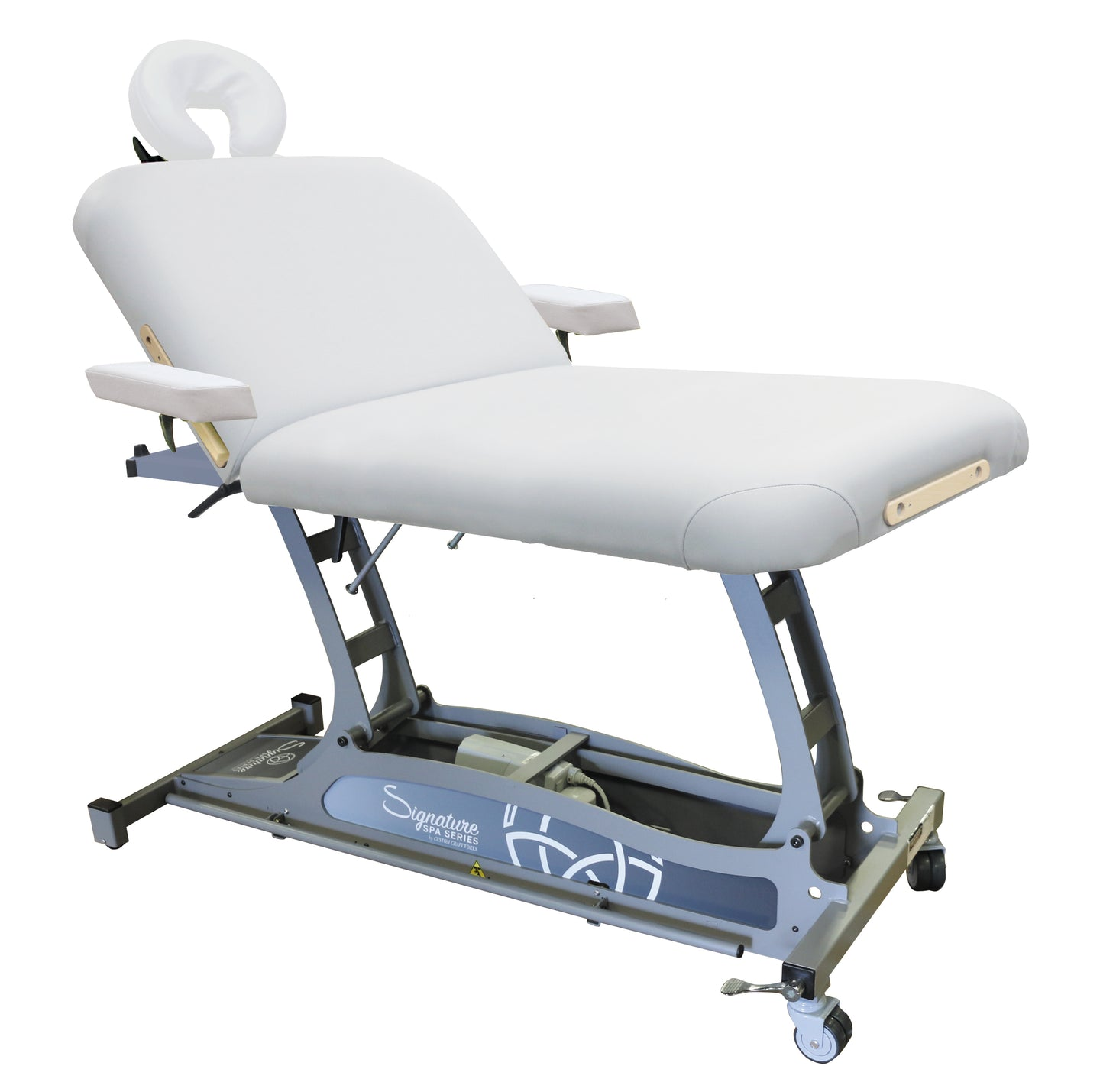 Signature Spa Series by Custom Craftworks - Hands Free Lift Back Electric Massage Table - Superb Massage Tables