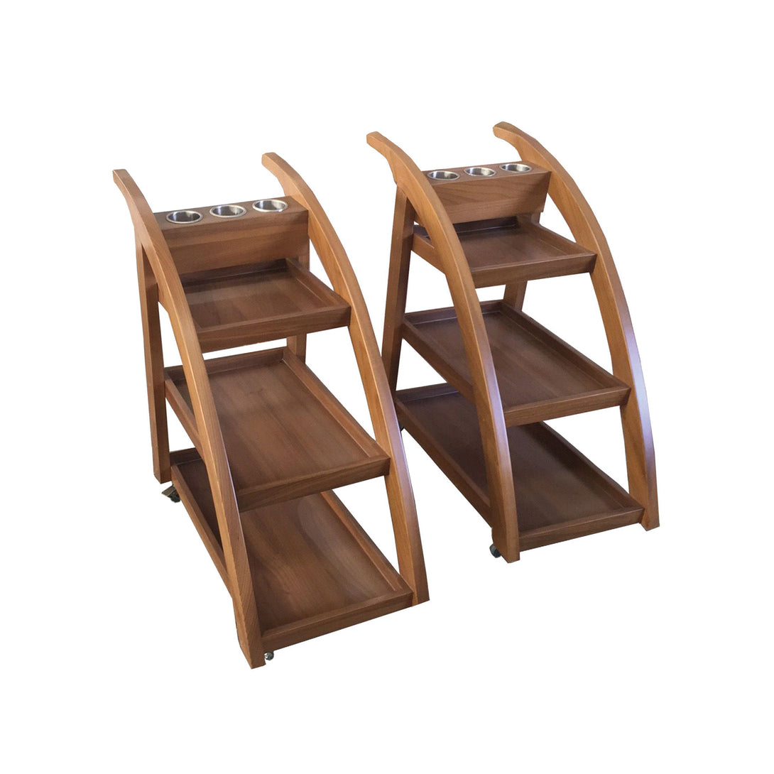 Touch America - Teak Service Trolley - Superb Massage Tables