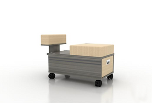 Main image for Mayakoba Alera Pedicure Cart with Footrest by Superb Massage Tables