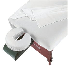 MT Massage - Deluxe Flannel Set Massage Table Cover Pure White - Superb Massage Tables