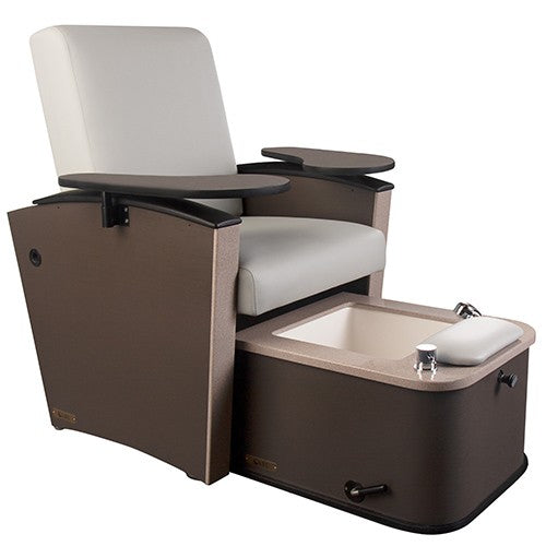 Living Earth Crafts - Mystia™ Manicure / Pedicure Chair with Plumbed Footbath - Superb Massage Tables