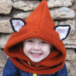 Animals Knitted Beanie & Scarf