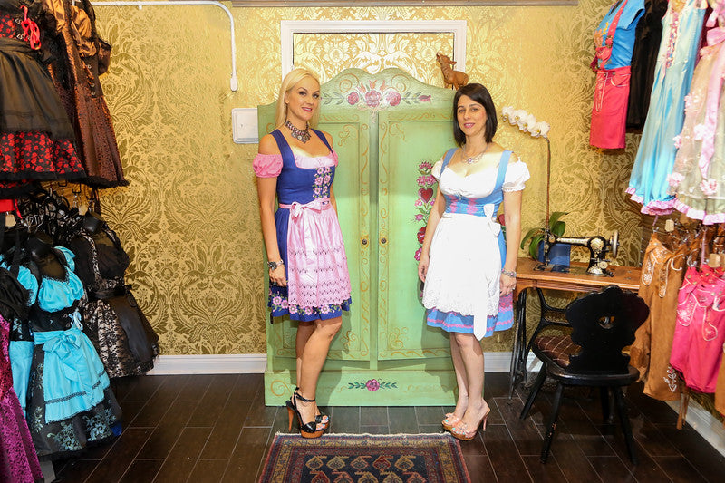 Traditional Dirndls and Lederhosen