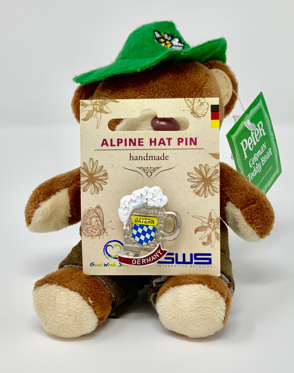 Alpine Hat Pin • Bayern Germany • Handmade