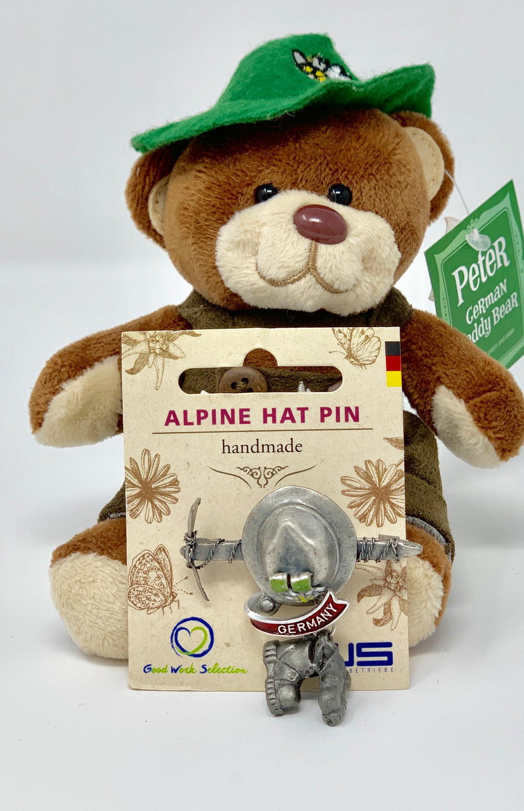 Alpine Hat Pin • Pick Ax  • Handmade