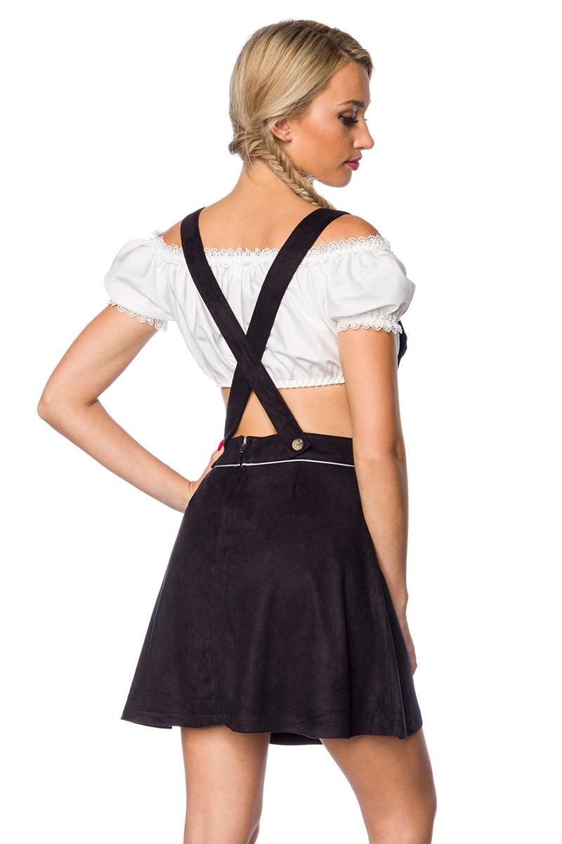 Mini Bombshell Flared Skirt with Suspenders