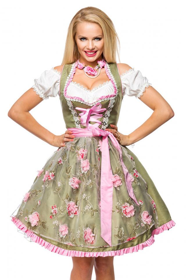 Dirndline Exquisite Midi Pastel Dirndl • In-Stock