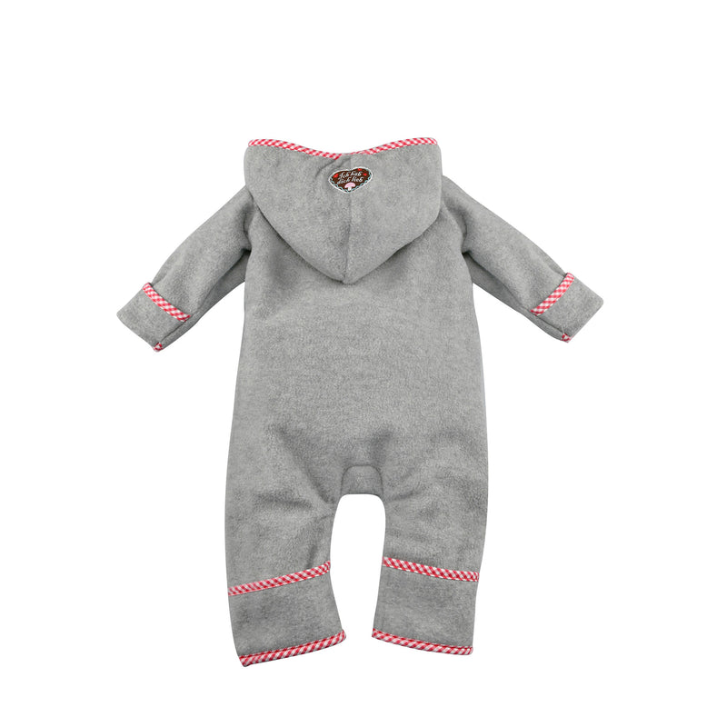 "Baby Fleece Coverall ""Zuckermaus"" Grey"