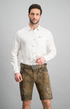 StockerPoint Men's Trousers with belt ALOIS Stone Washed Bison Sold out