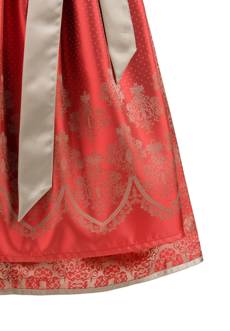Stockerpoint Midi Dirndl 2 pcs. 65 cm ANTONIA Red Size 38,46 In-Stock