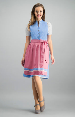 Stockerpoint Mini Dirndl 2pcs. 55 cm BERINA Blue Pink Sold Out