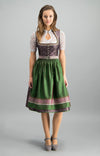 Lola Paltinger Mini Dirndl 2 Pieces 60 cm MANON Taupe Old Rose Size 38 In-Stock