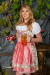 Stockerpoint Mini Dirndl 2pcs. 55 cm ASTORIA Rose 40,42 In-Stock