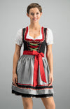 Stockerpoint Mini Dirndl 2pcs. 50cm PATTY Black Silver In-Stock size 38