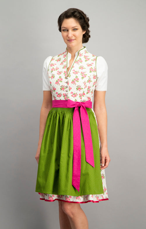 Stockerpoint Midi Dirndl 2 pcs. 60cm PEGGY Pink Green