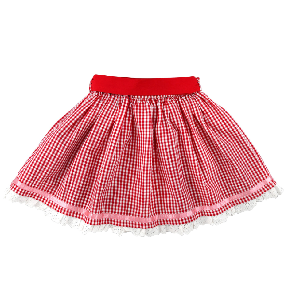 Girls Trachtenrock Skirt Red/White