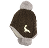 Baby Knitted Hat 'Deer' Brown