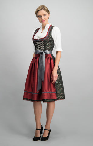 Stockerpoint Dirndl long ZENTA3 1 pcs. Black button facing Size 50,52