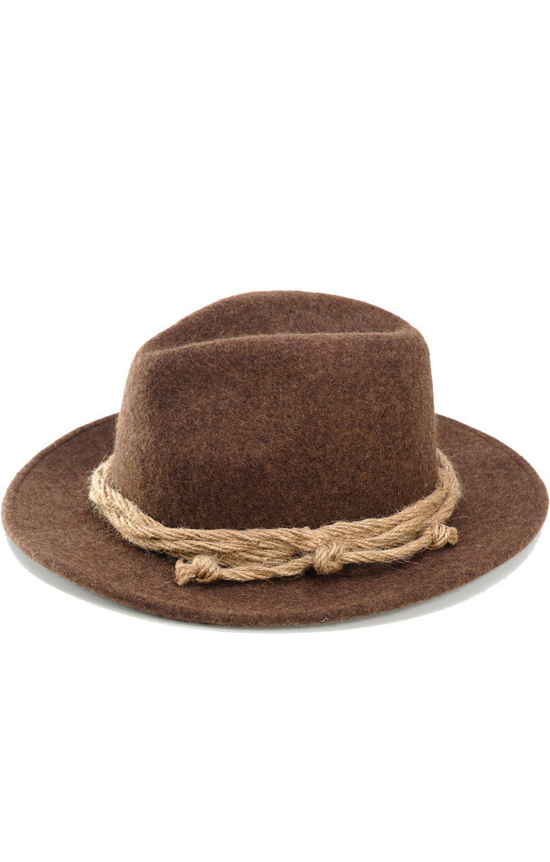Mens Traditional Hat Loden Brown Size 56 & 58