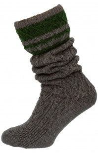 SockerPoint Traditional Knee Mens Socks 54080 Anthracite & Beige