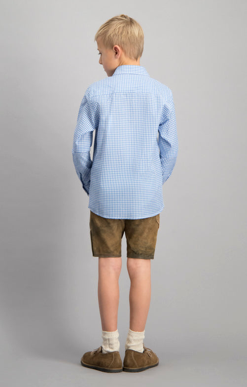 Stockerpoint Traditional Boys Shirt DAVE Junior Blue